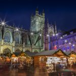 Bath Christmas Market by night
