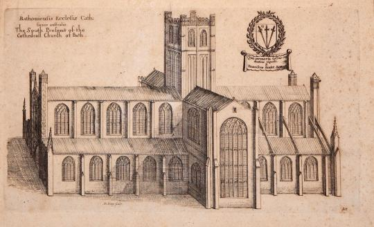 Drawing of the Abbey during the 17th century by Daniel King