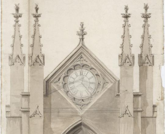 George Manner's Sketch of The Abbey's Clock