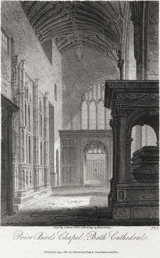 NOTHER VIEW BY JAMES STORER, LOOKING EAST FROM THE SOUTH CHOIR AISLE, TOWARDS THE SPOT WHERE THE GETHSEMANE CHAPEL IS TODAY, 1814.