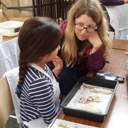 Child at Archaeology Day at Bath Abbey