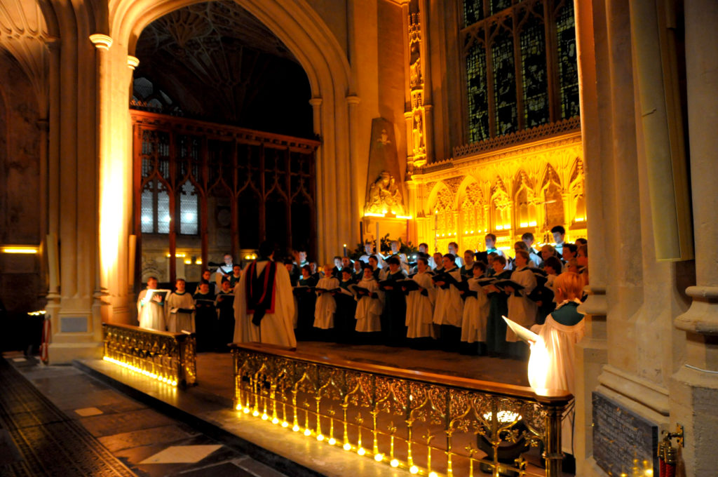 The Abbey Choir at Advent Carol Service