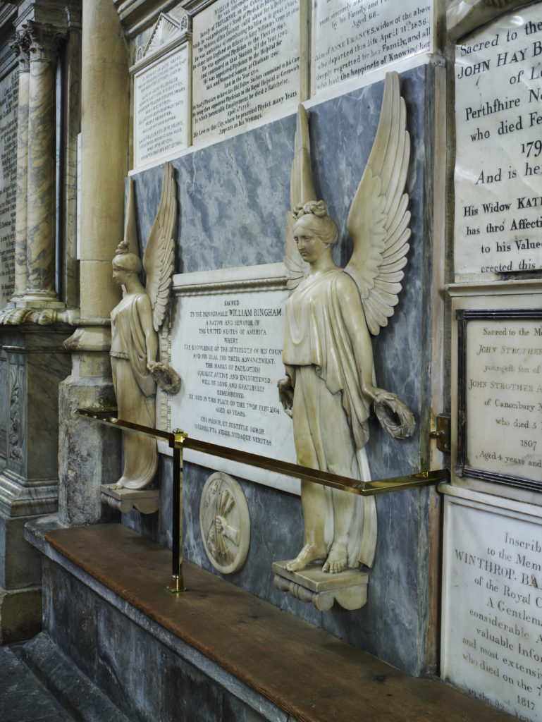 Wall memorials in Bath Abbey