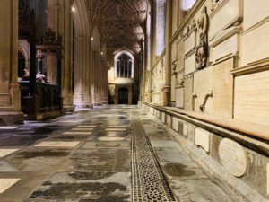 Newly restored floor in the North aisle of the Abbey completed as part of Footprint project