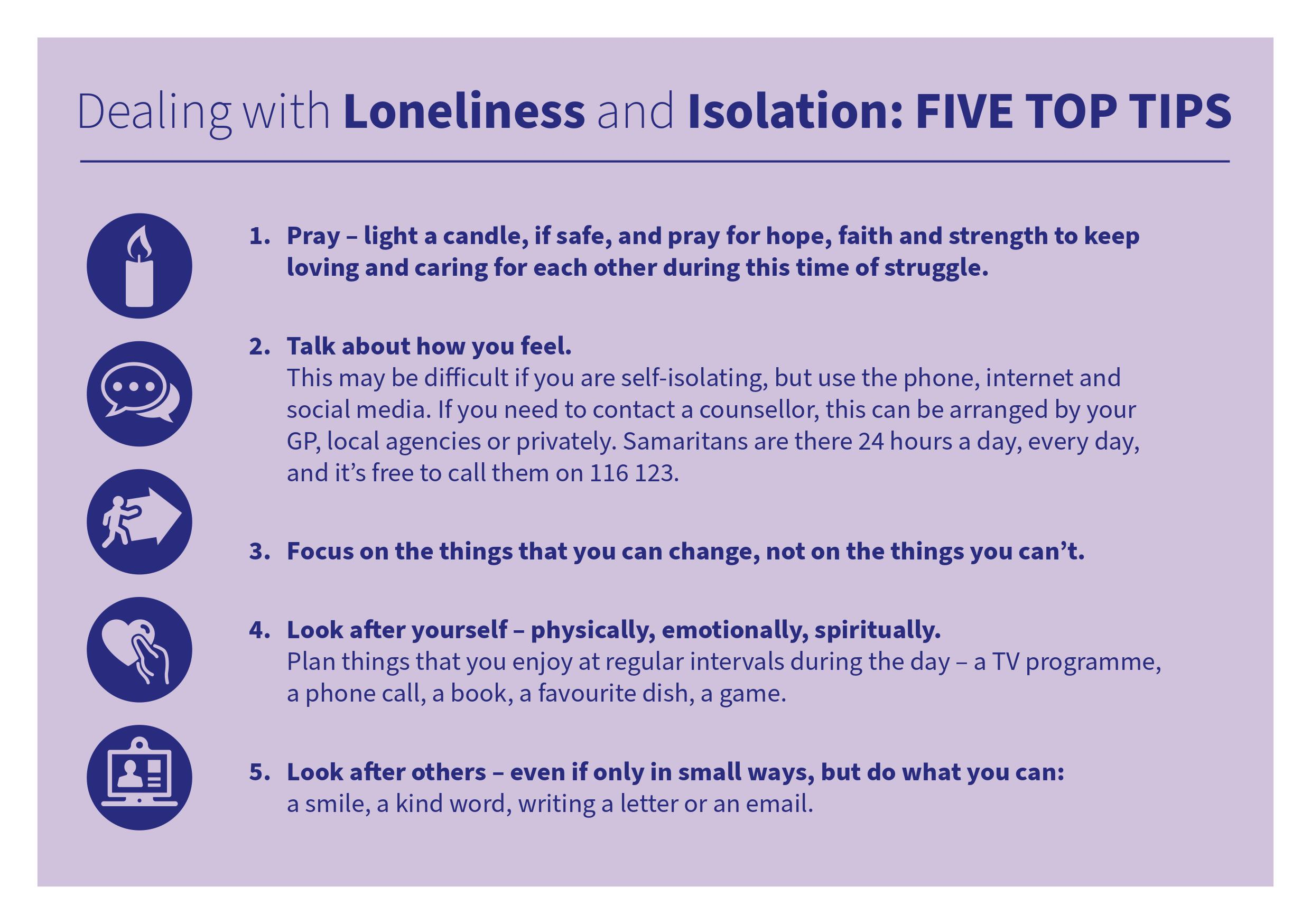Church of England Top 5 tips on how to deal with isolation and loneliness