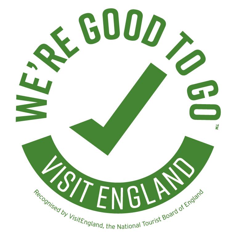 Good to Go England - Green on white logo