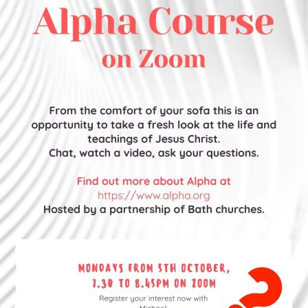 Alpha course by Zoom