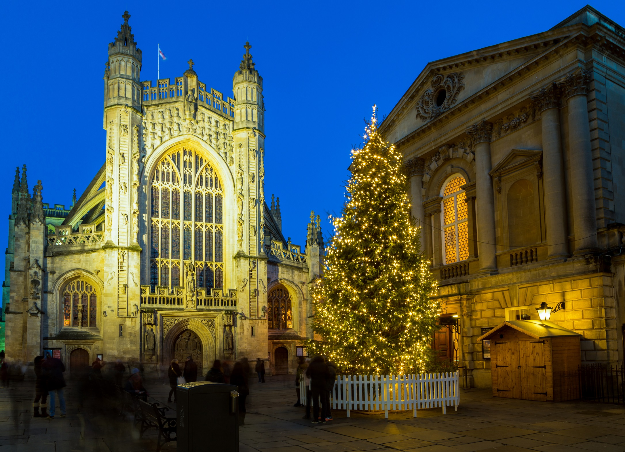 Bath Abbey - west front - Christmas tree - shutterstock_1407723806 (1) DO NOT USE FOR EDITORIAL