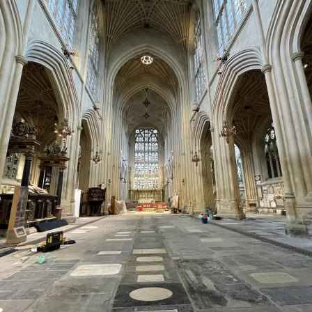 Bath Abbey floor saved from collapse as part of Footprint project