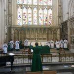 Abbey Choir socially distanced