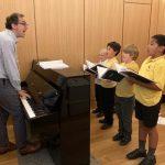 New piano in Vestry