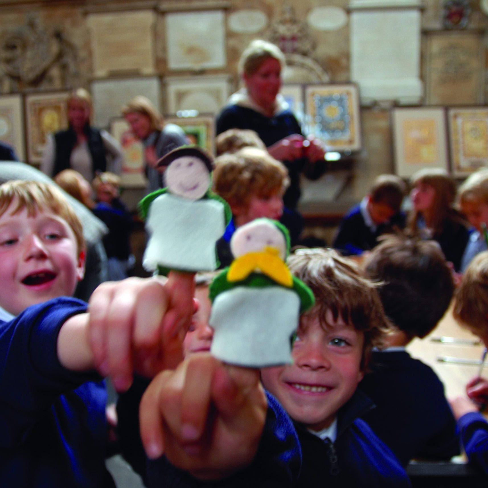 Children in school uniform in the Abbey