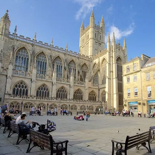 Bath Abbey from Abbey Square